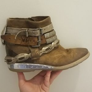 A.S. 98 Brown Ankle Boots Size 40 Euro